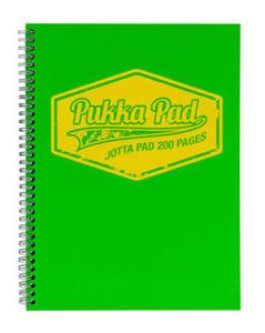 Kołonotatnik A5 Pukka Pad Jotta Neon zielony x1