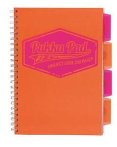Kołonotatnik B5 Pukka Project Book Neon-pomarańcz