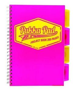 Kołonotatnik B5 Pukka Project Book Neon różowy x1
