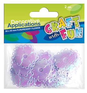 Aplikacje materiałowe Craft with Fun 2g kwiaty x1 - 2824967492