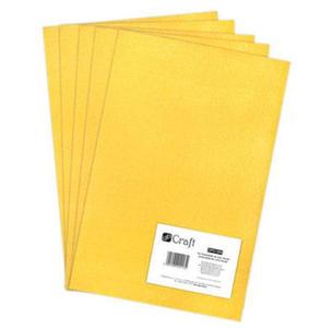 Filc dekoracyjny A4 004 yellow x5 - 2824967785
