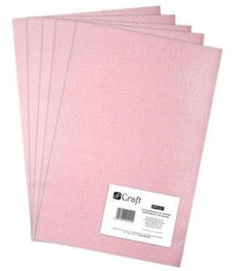 Filc dekoracyjny A4 011 light pink x5 - 2824967792