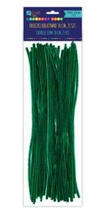 Druciki kreatywne chenille 30cm c.zielone x25