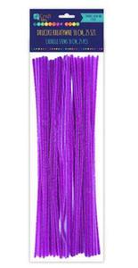 Druciki kreatywne chenille 30cm fioletowe x25