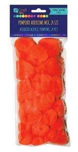 Pompony akrylowe pomarańczowe 24e x1
