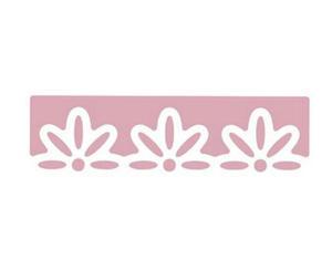 Dziurkacz ozdobny brzegowy - 605 120 kwiaty 3 x1