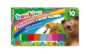 Plastelina Bambino - 10 kol. kwadratowa x1