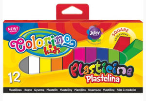 Plastelina Patio Colorino - 12 kol. kwadratowa x1