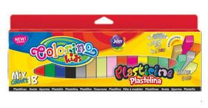 Plastelina Patio Colorino - 18 kol. kwadratowa mix