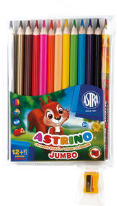 Kredki Astrino Jumbo 12 kol x1