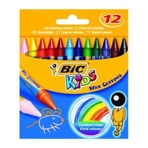 Kredki świecowe BIC Wax Crayons 12 kol x1