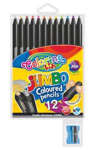 Kredki Patio Colorino Jumbo czarne 12 kol x1 - 2835620595