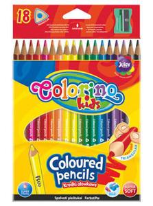 Kredki Patio Colorino Kids trójkątne 18 kol x1
