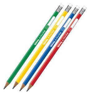 Ołówek z gumką Patio Colorino trójkątny gruby x1 - 2824968289