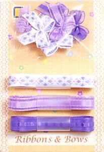 Kokardki i wstążeczki JeJe - fioletowe 9e x1