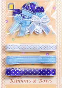 Kokardki i wstążeczki JeJe - niebieskie 9e x1 - 2824968298