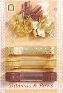 Kokardki i wstążeczki JeJe - złote 9e x1