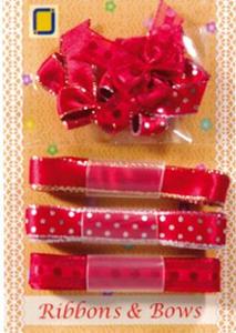 Kokardki i wstążeczki JeJe - czerwone 9e x1