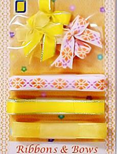 Kokardki i wstążeczki JeJe - żółte 9e x1