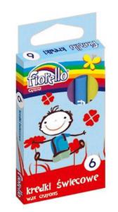 Kredki świecowe Fiorello 6 kol x1 - 2868114365