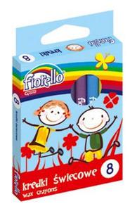 Kredki świecowe Fiorello 8 kol x1