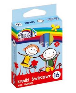 Kredki świecowe Fiorello 16 kol x1