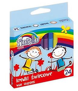 Kredki świecowe Fiorello 24 kol x1 - 2868114366
