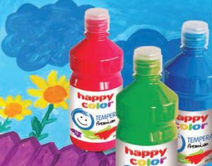Farba tempera Happy Color 500ml - czarna x1