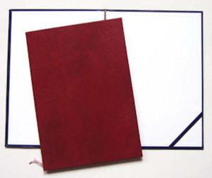 Okładka do dyplomu bez napisu bordowa x1 - 2863791142