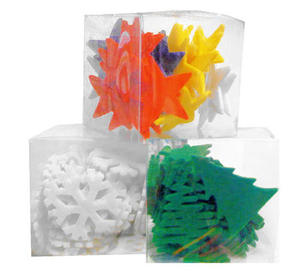 Elementy z filcu śnieżynki x40
