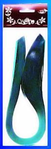 Paski do quillingu brokatowe 5mmx50cm - zielone x1