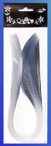 Paski do quillingu brokatowe 5mmx50cm - srebrne x1