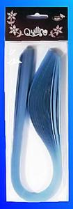 Paski do quillingu brokatowe 5mmx50cm - niebieskie - 2824968635