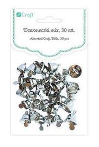 Dzwoneczki metalowe srebrne x30