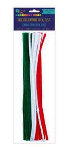 Druciki kreatywne 30cm mix świąteczny x25 - 2861942292