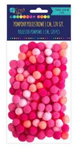 Pompony 1cm mix różowy x120