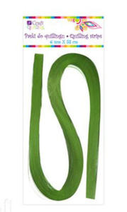 Paski do quillingu 6mmx53cm 032 zielone x100 - 2824968866