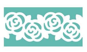 Dziurkacz ozdobny brzegowy - 609 002 róże x1 - 2824968873