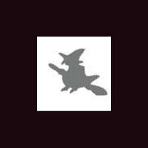 Dziurkacz ozdobny 1,6 cm - czarownica x1