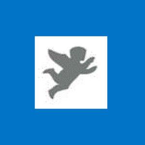 Dziurkacz ozdobny 1,6 cm - aniołek x1