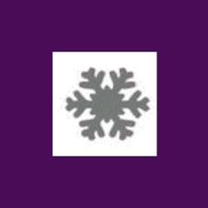 Dziurkacz ozdobny 1,6 cm - płatek śniegu x1