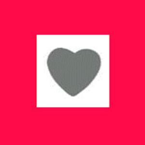 Dziurkacz ozdobny 1,6 cm - serce x1