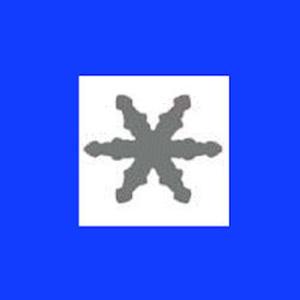 Dziurkacz ozdobny 1,6 cm - śnieżynka 3 x1