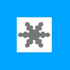 Dziurkacz ozdobny 1,6 cm - śnieżynka 4 x1