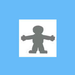 Dziurkacz ozdobny 1,6 cm - chłopiec x1