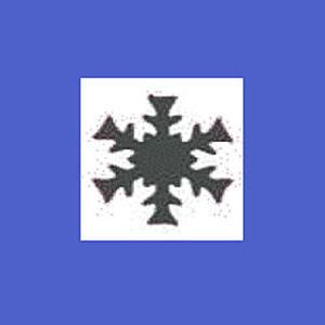 Dziurkacz ozdobny 2,5cm - płatek śniegu x1