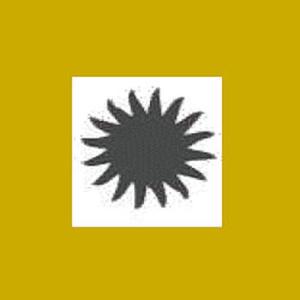 Dziurkacz ozdobny 2,5cm - słońce x1