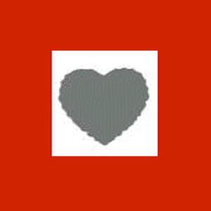 Dziurkacz ozdobny 2,5cm - serce z falbanką x1