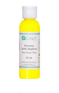 Farba akrylowa DPCraft 60ml neonowa - yellow x1 - 2824969096