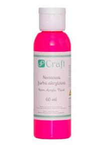 Farba akrylowa DPCrafts 60ml neonowa - pink x1
